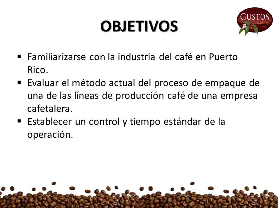OBJETIVOS  Familiarizarse con la industria del café en Puerto Rico.