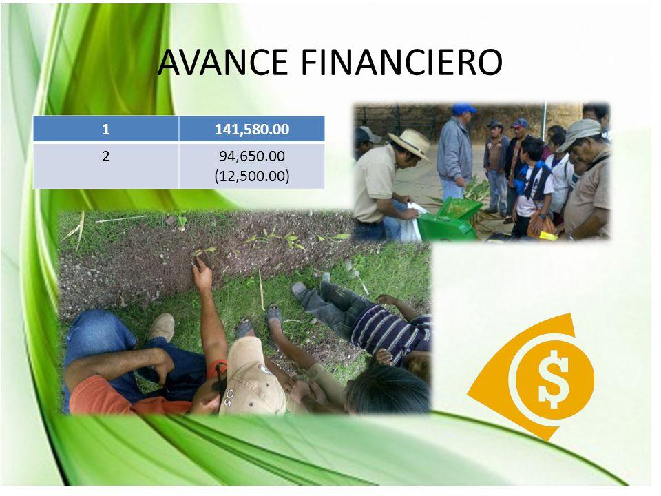 AVANCE FINANCIERO 1141,580.00 294,650.00 (12,500.00)