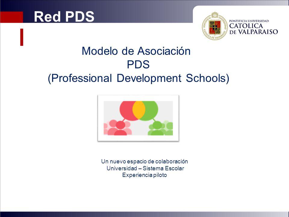 Modelo de Asociación PDS (Professional Development Schools) Un nuevo espacio de colaboración Universidad – Sistema Escolar Experiencia piloto Red PDS