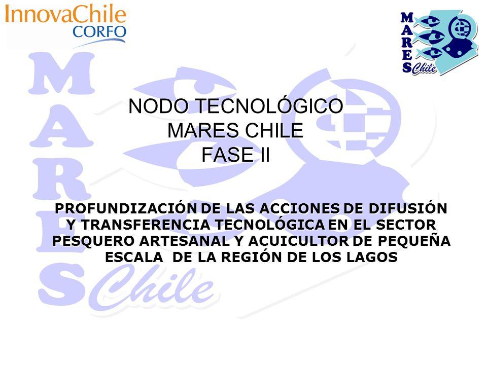 NODO TECNOLÓGICO MARES CHILE FASE II PROFUNDIZACIÓN DE LAS ACCIONES DE DIFUSIÓN Y TRANSFERENCIA TECNOLÓGICA EN EL SECTOR PESQUERO ARTESANAL Y ACUICULTOR DE PEQUEÑA ESCALA DE LA REGIÓN DE LOS LAGOS
