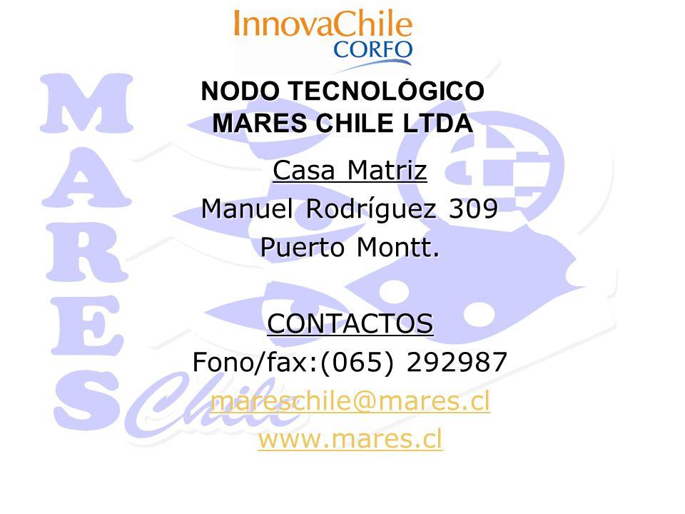 NODO TECNOLÓGICO MARES CHILE LTDA Casa Matriz Manuel Rodríguez 309 Puerto Montt.