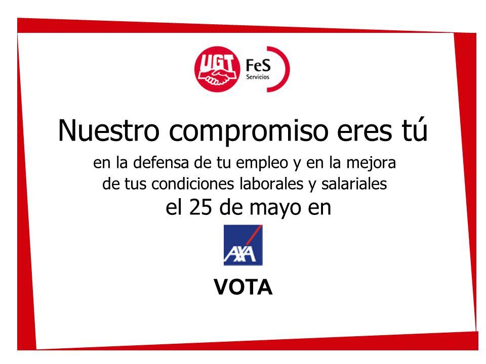 Nuestro compromiso eres tú en la defensa de tu empleo y en la mejora de tus condiciones laborales y salariales el 25 de mayo en VOTA