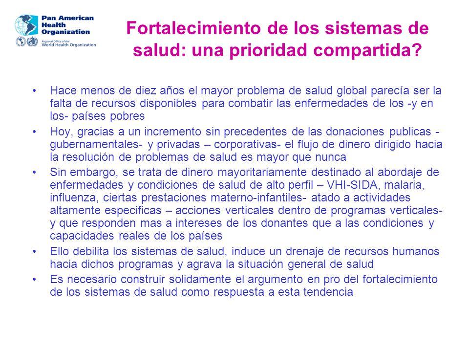 Fortalecimiento de los sistemas de salud: una prioridad compartida.