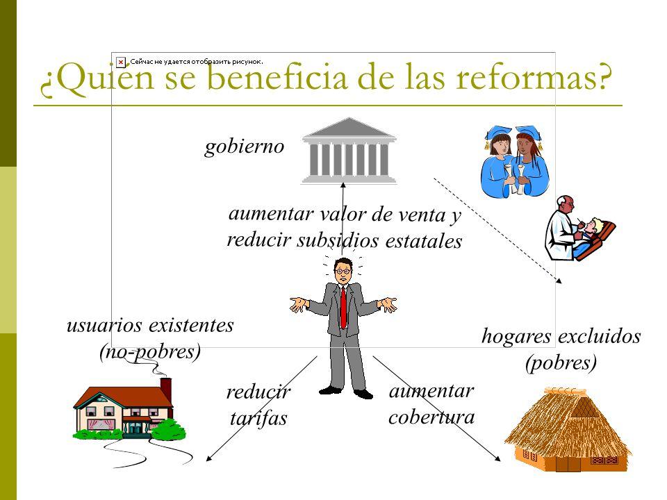 ¿Quién se beneficia de las reformas.