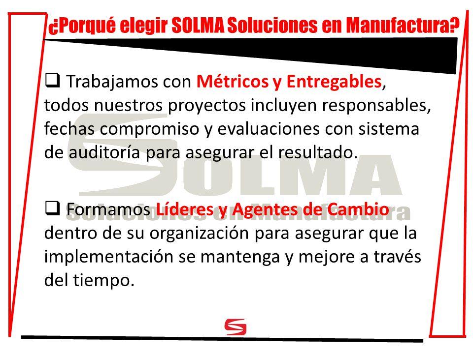 ¿Porqué elegir SOLMA Soluciones en Manufactura.