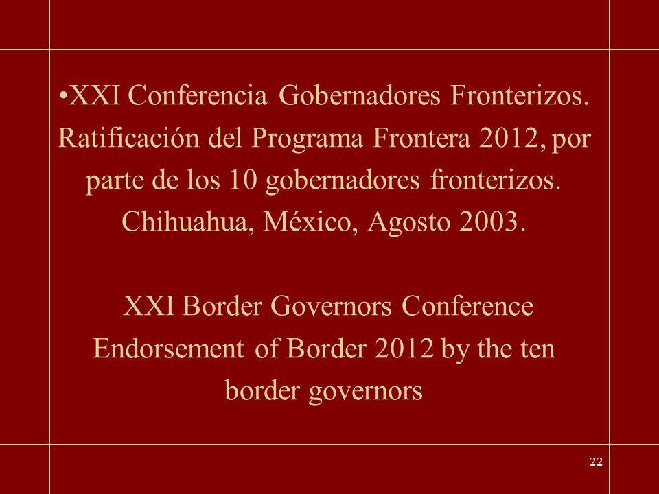 22 XXI Conferencia Gobernadores Fronterizos.