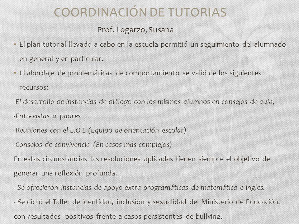 COORDINACIÓN DE TUTORIAS Prof.
