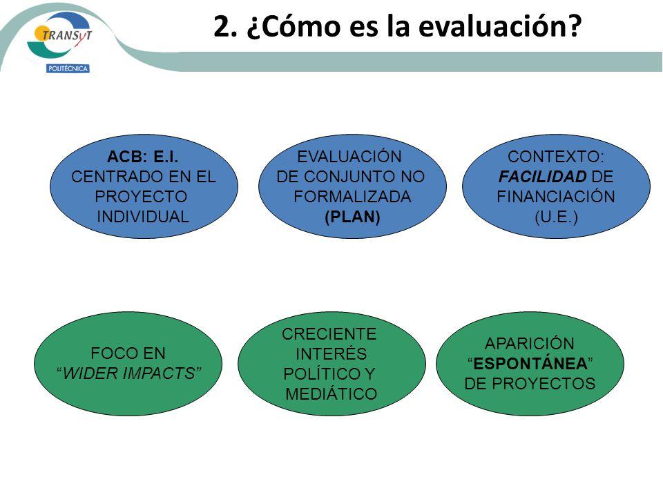 2. ¿Cómo es la evaluación. ACB: E.I.