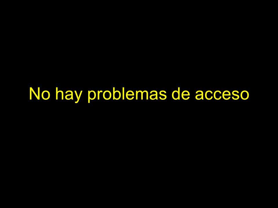 No hay problemas de acceso
