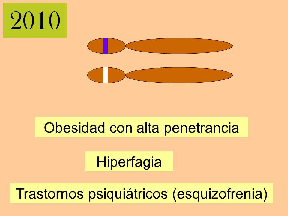 2010 Obesidad con alta penetrancia Hiperfagia Trastornos psiquiátricos (esquizofrenia)