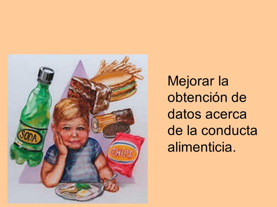 Mejorar la obtención de datos acerca de la conducta alimenticia.