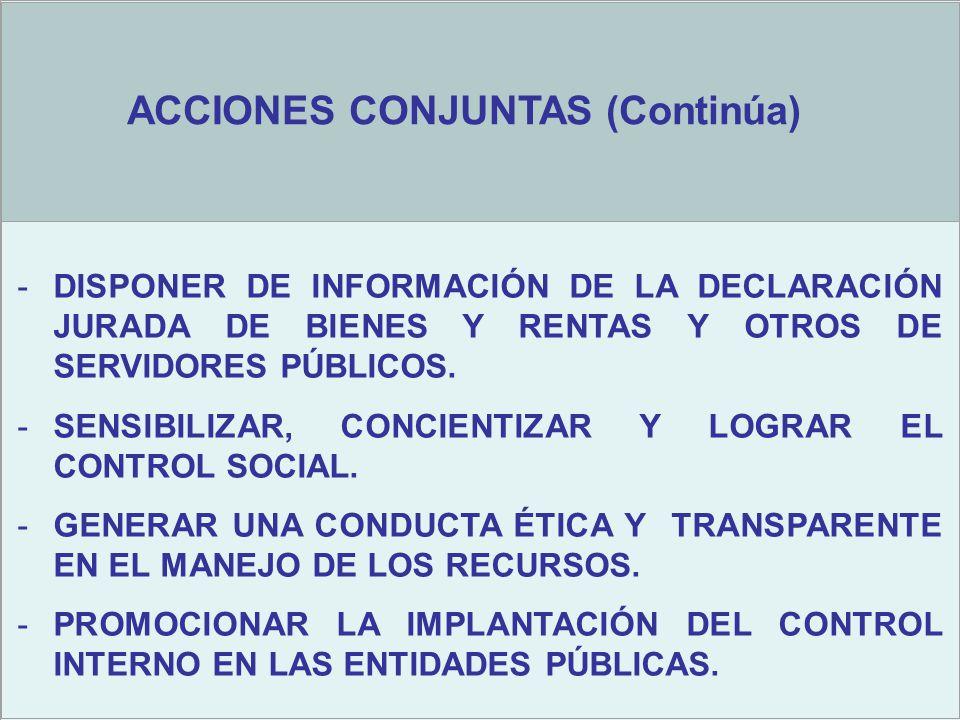 -DISPONER DE INFORMACIÓN DE LA DECLARACIÓN JURADA DE BIENES Y RENTAS Y OTROS DE SERVIDORES PÚBLICOS.