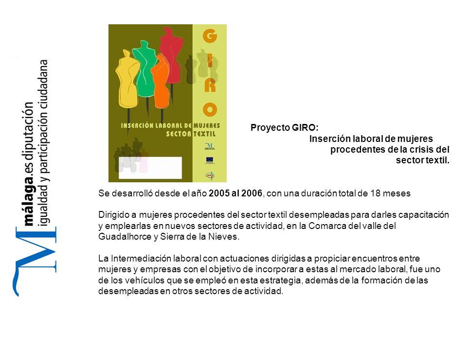 Proyecto GIRO: Inserción laboral de mujeres procedentes de la crisis del sector textil.