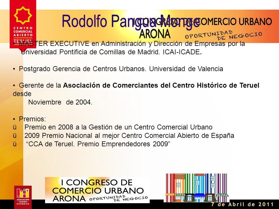 MASTER EXECUTIVE en Administración y Dirección de Empresas por la Universidad Pontificia de Comillas de Madrid.