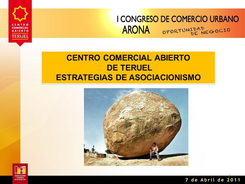 2 CENTRO COMERCIAL ABIERTO DE TERUEL ESTRATEGIAS DE ASOCIACIONISMO CENTRO COMERCIAL ABIERTO DE TERUEL ESTRATEGIAS DE ASOCIACIONISMO