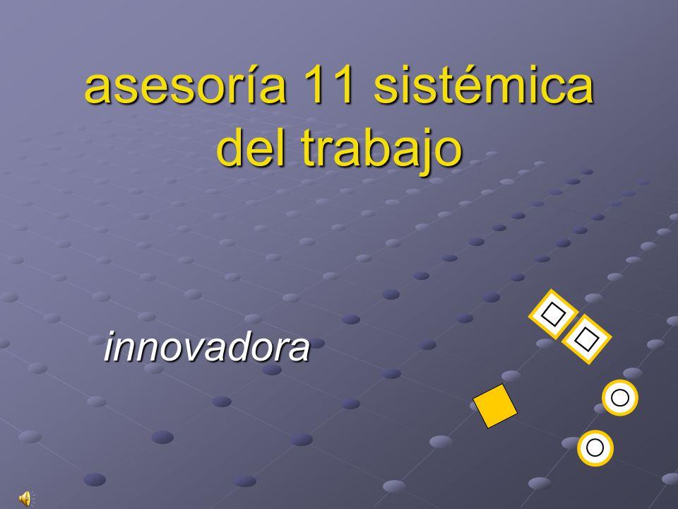 asesoría 11 sistémica del trabajo innovadora