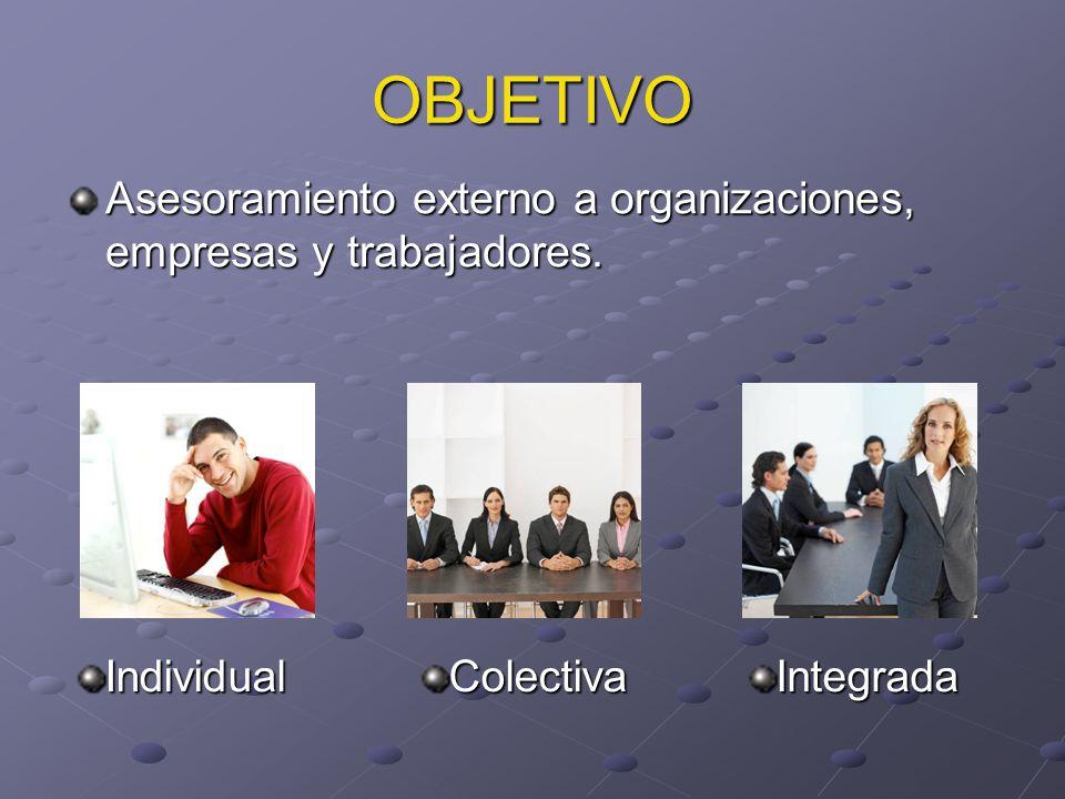 Asesoramiento externo a organizaciones, empresas y trabajadores.