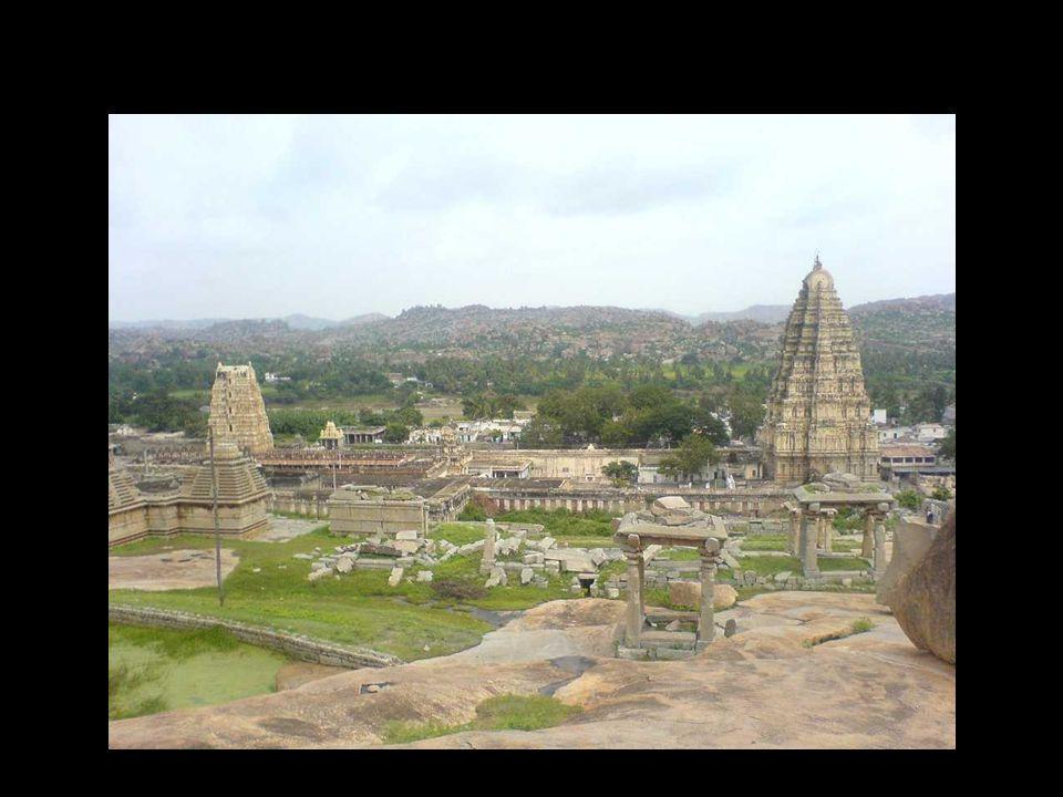 Hampi main temple rocks