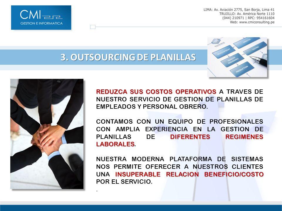3. OUTSOURCING DE PLANILLAS 3.