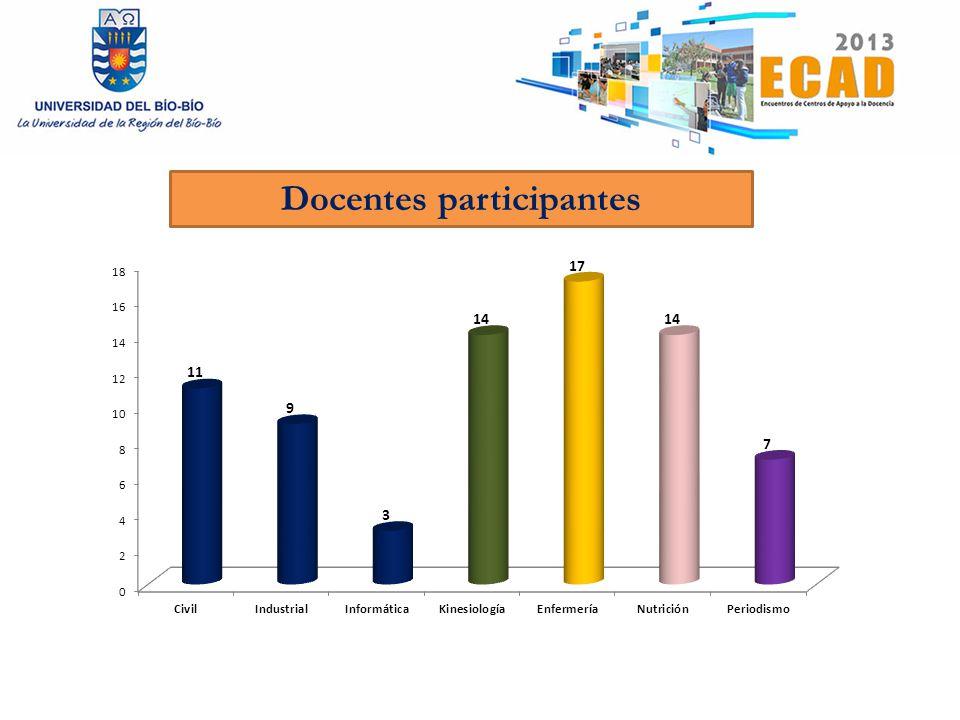 Docentes participantes