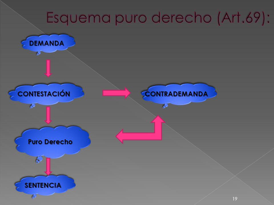 DEMANDADEMANDA CONTESTACIÓNCONTESTACIÓN SENTENCIASENTENCIA Puro Derecho CONTRADEMANDACONTRADEMANDA 19