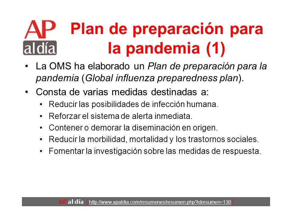 AP al día [ http://www.apaldia.com/resumenes/resumen.php idresumen=130 ] ¿Puede ocasionar una pandemia el H5N1.