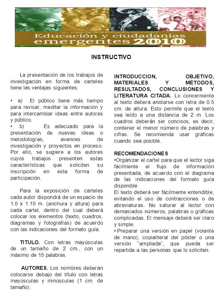 INTRODUCCION, OBJETIVO, MATERIALES Y MÉTODOS, RESULTADOS, CONCLUSIONES Y LITERATURA CITADA.