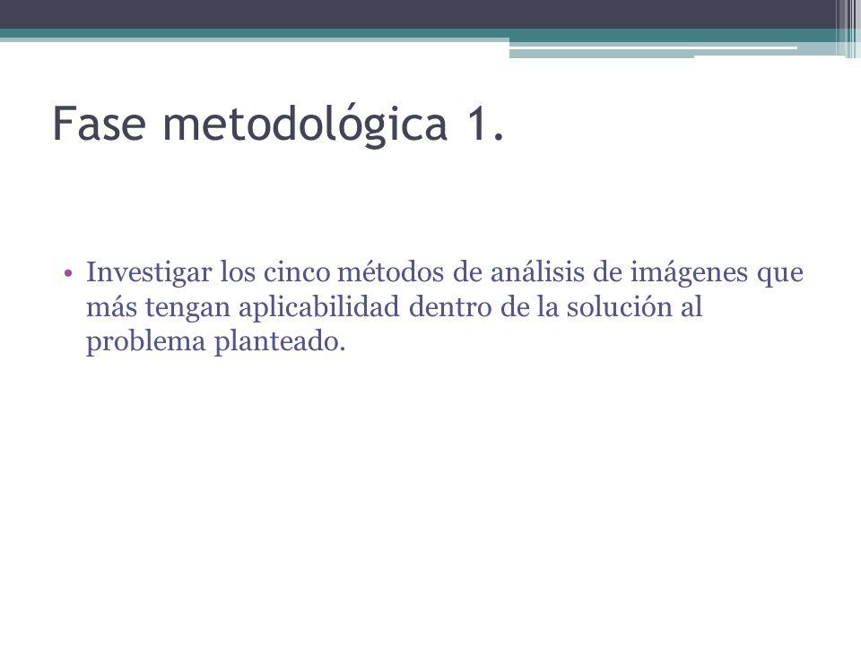 Fase metodológica 1.