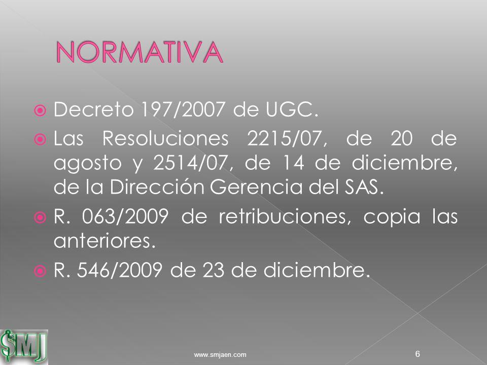  Decreto 197/2007 de UGC.