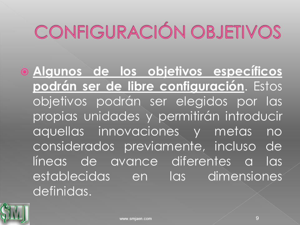  Algunos de los objetivos específicos podrán ser de libre configuración.