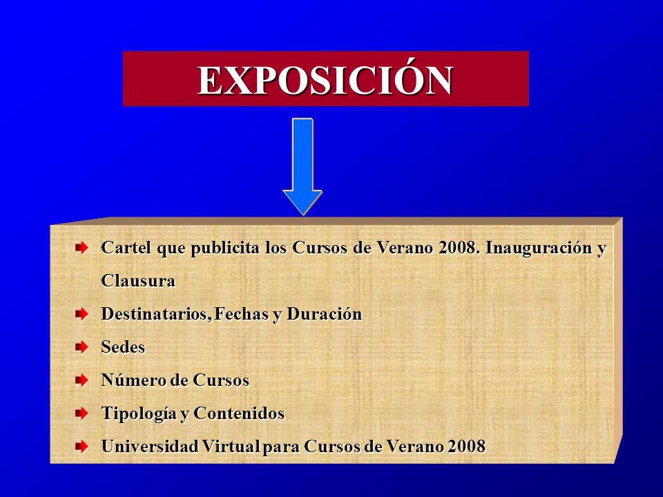 Cartel que publicita los Cursos de Verano 2008.