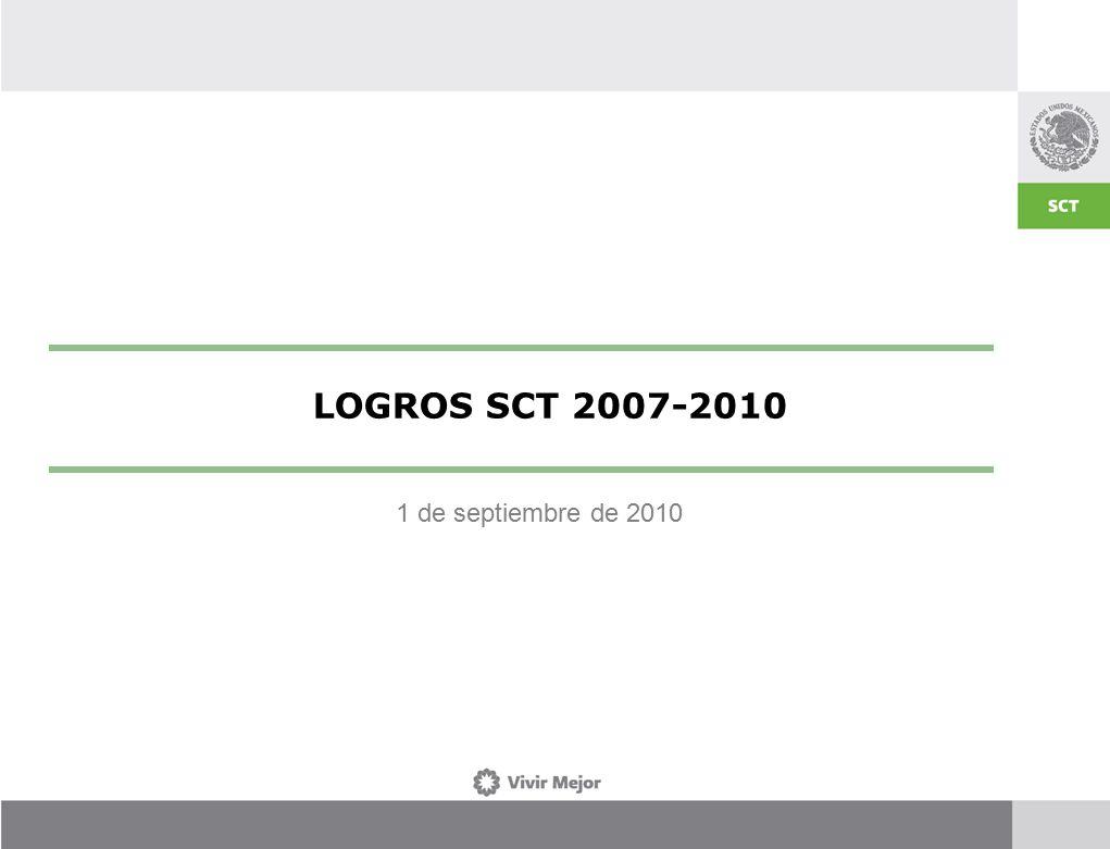 1 de septiembre de 2010 LOGROS SCT 2007-2010
