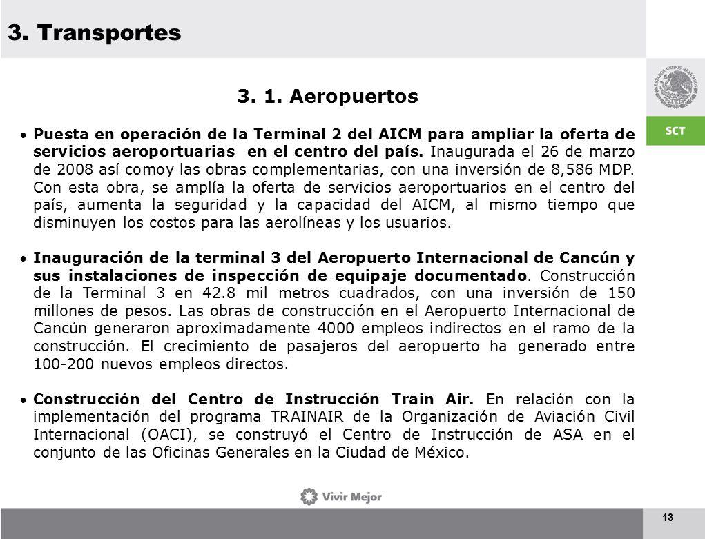 3. Transportes 13 3. 1.