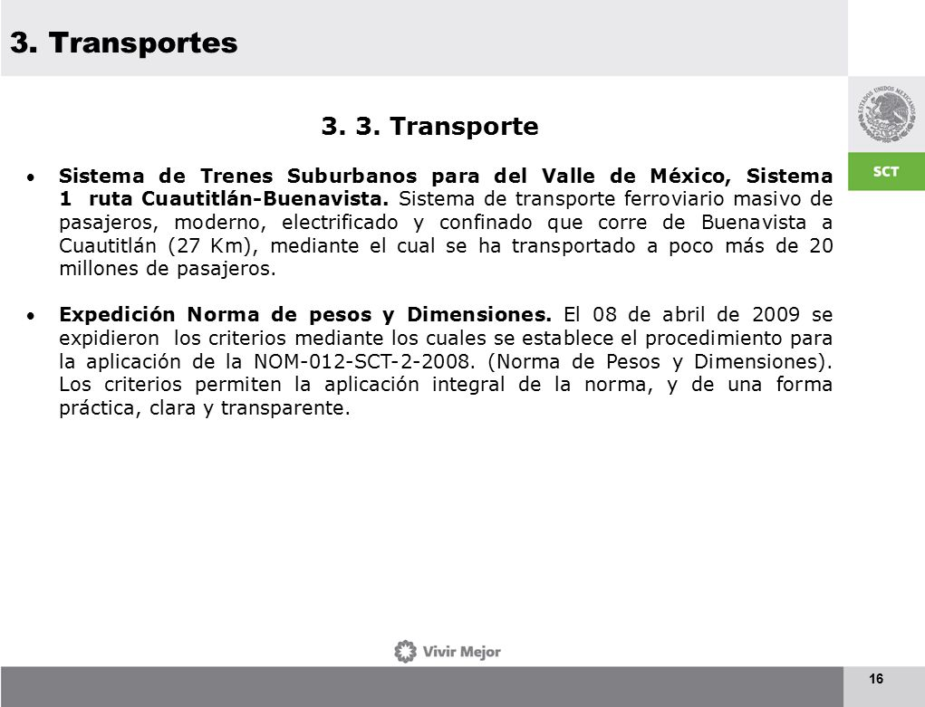 3. Transportes 16 3. 3.