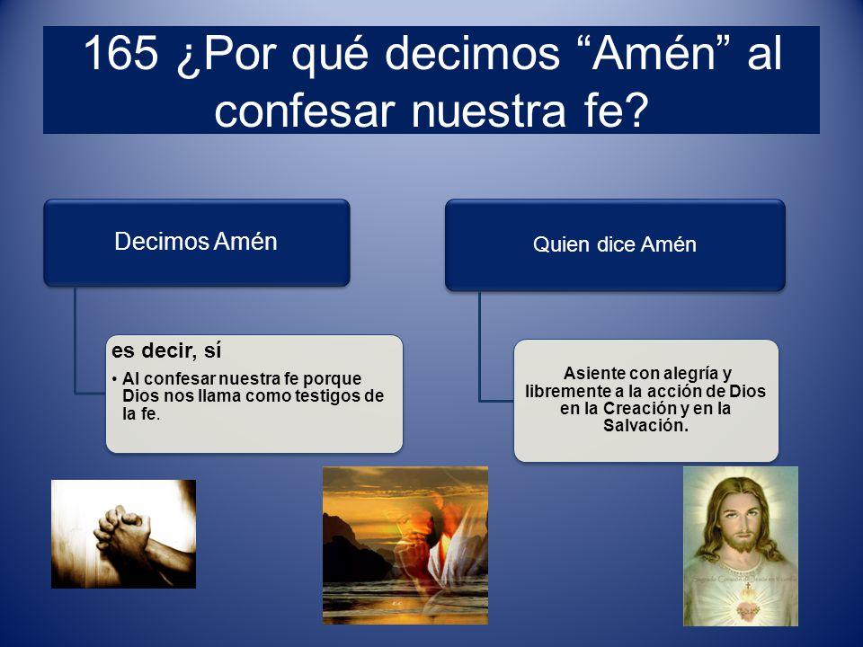 165 ¿Por qué decimos Amén al confesar nuestra fe.