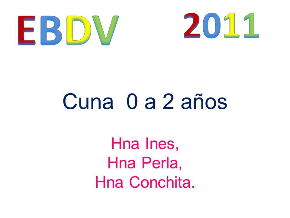 Cuna 0 a 2 años Hna Ines, Hna Perla, Hna Conchita.