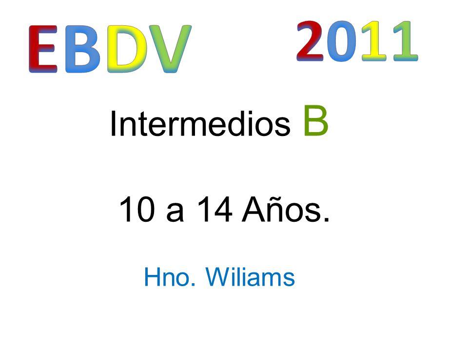 Intermedios B 10 a 14 Años. Hno. Wiliams