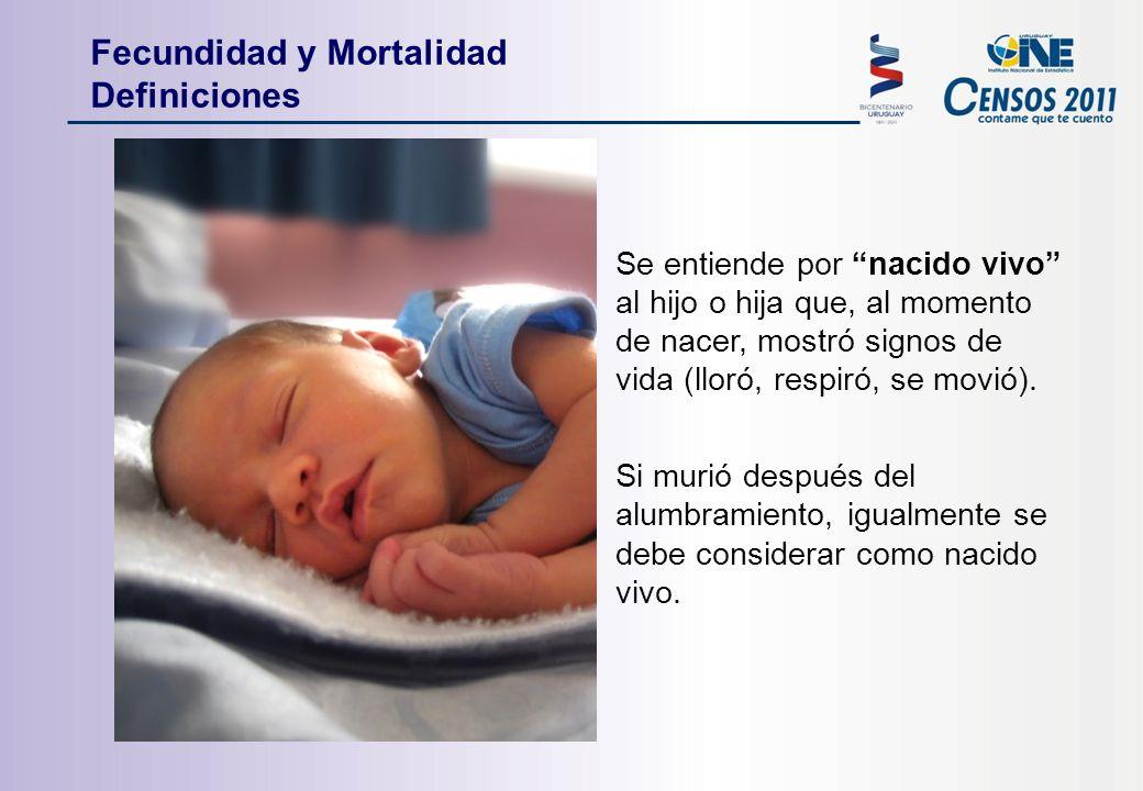 Se entiende por nacido vivo al hijo o hija que, al momento de nacer, mostró signos de vida (lloró, respiró, se movió).