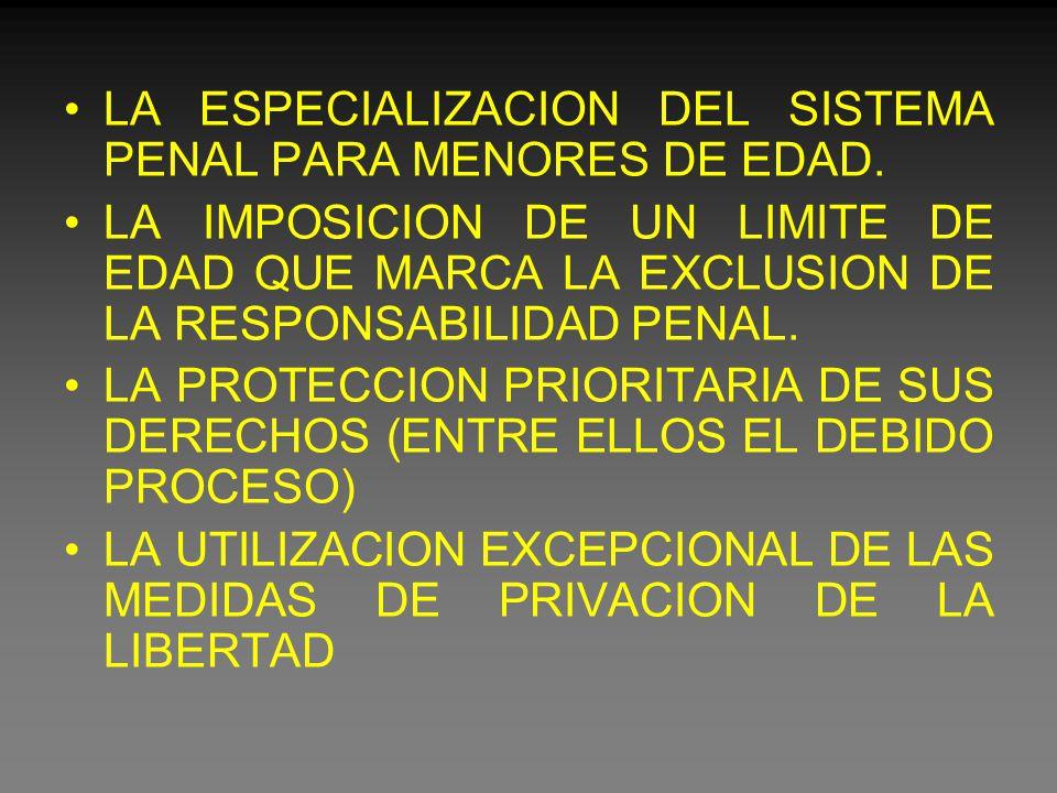 LA ESPECIALIZACION DEL SISTEMA PENAL PARA MENORES DE EDAD.