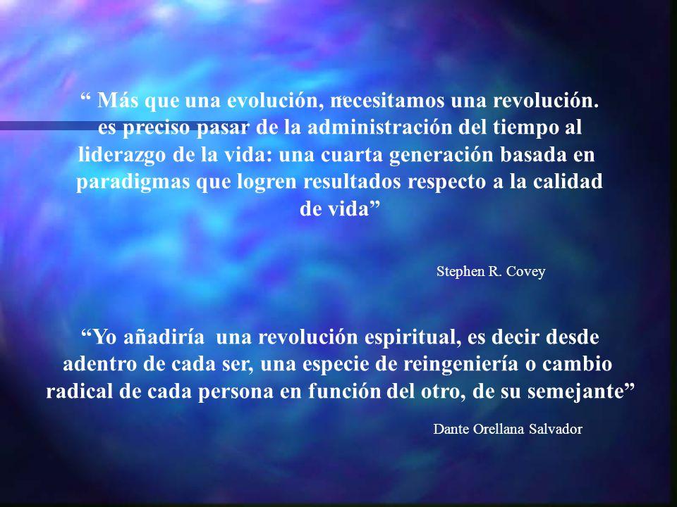 Más que una evolución, necesitamos una revolución.
