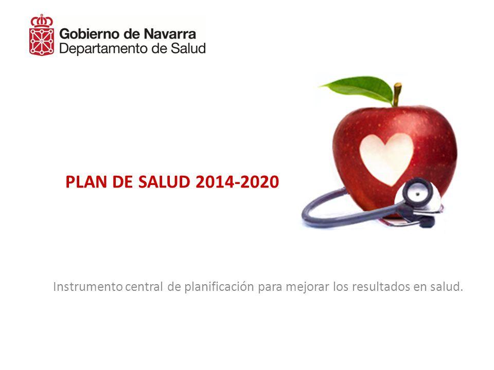 PLAN DE SALUD 2014-2020 Instrumento central de planificación para mejorar los resultados en salud.