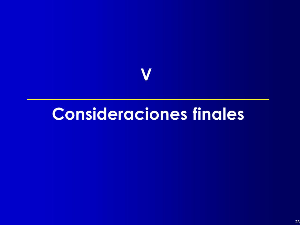 23 Consideraciones finales V