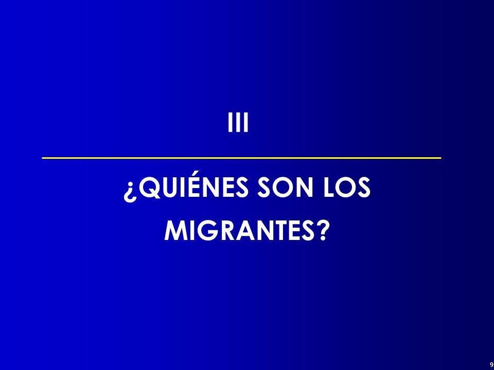 9 ¿QUIÉNES SON LOS MIGRANTES III