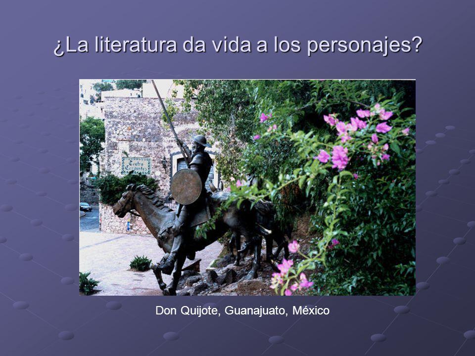 ¿La literatura da vida a los personajes Don Quijote, Guanajuato, México