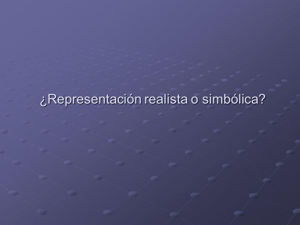 ¿Representación realista o simbólica