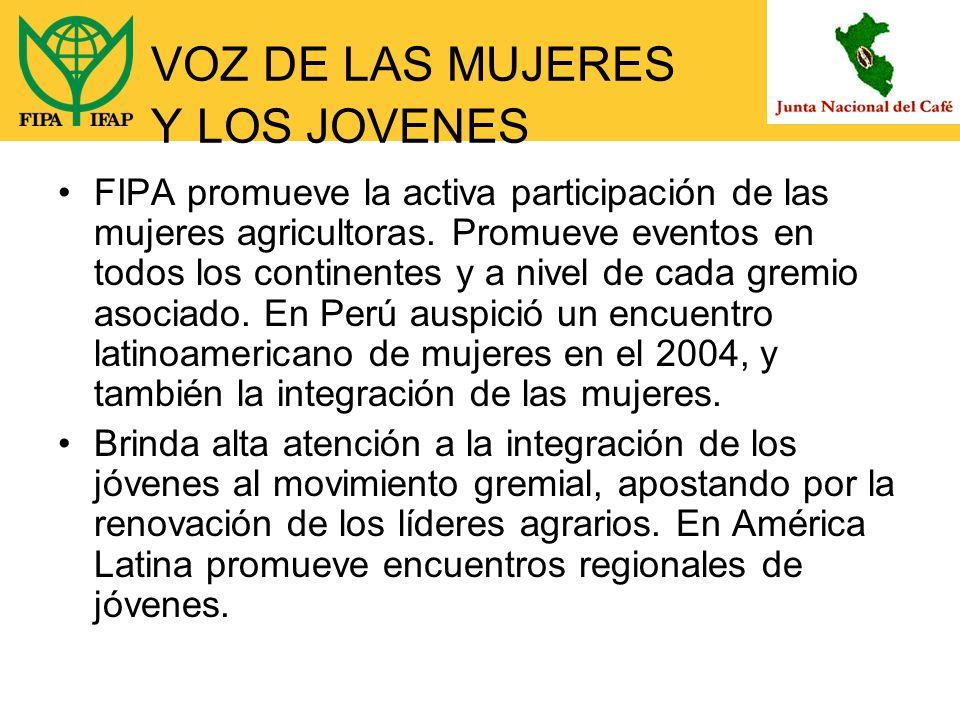 VOZ DE LAS MUJERES Y LOS JOVENES FIPA promueve la activa participación de las mujeres agricultoras.
