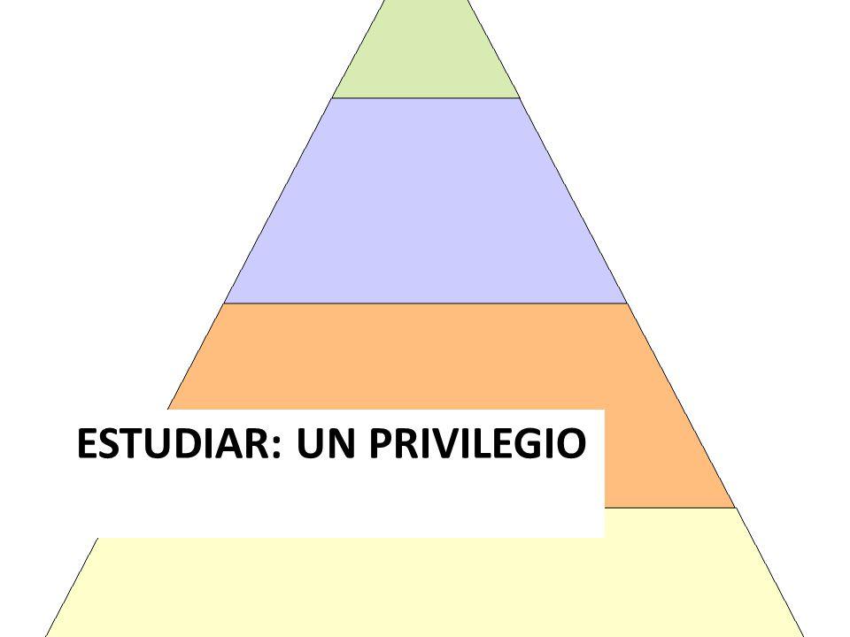 ESTUDIAR: UN PRIVILEGIO
