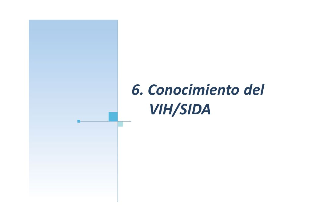 6. Conocimiento del VIH/SIDA