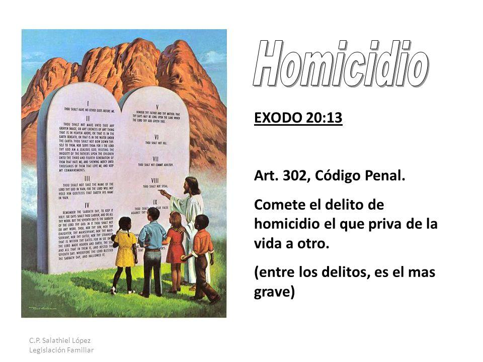 C.P. Salathiel López Legislación Familiar EXODO 20:13 Art.