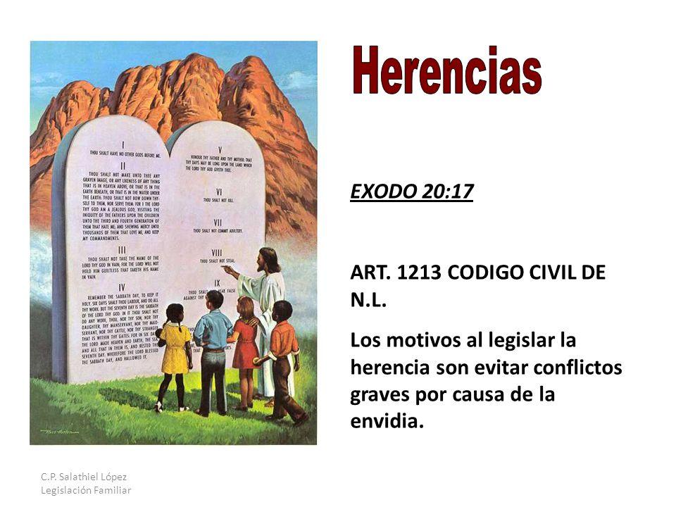C.P. Salathiel López Legislación Familiar EXODO 20:17 ART.